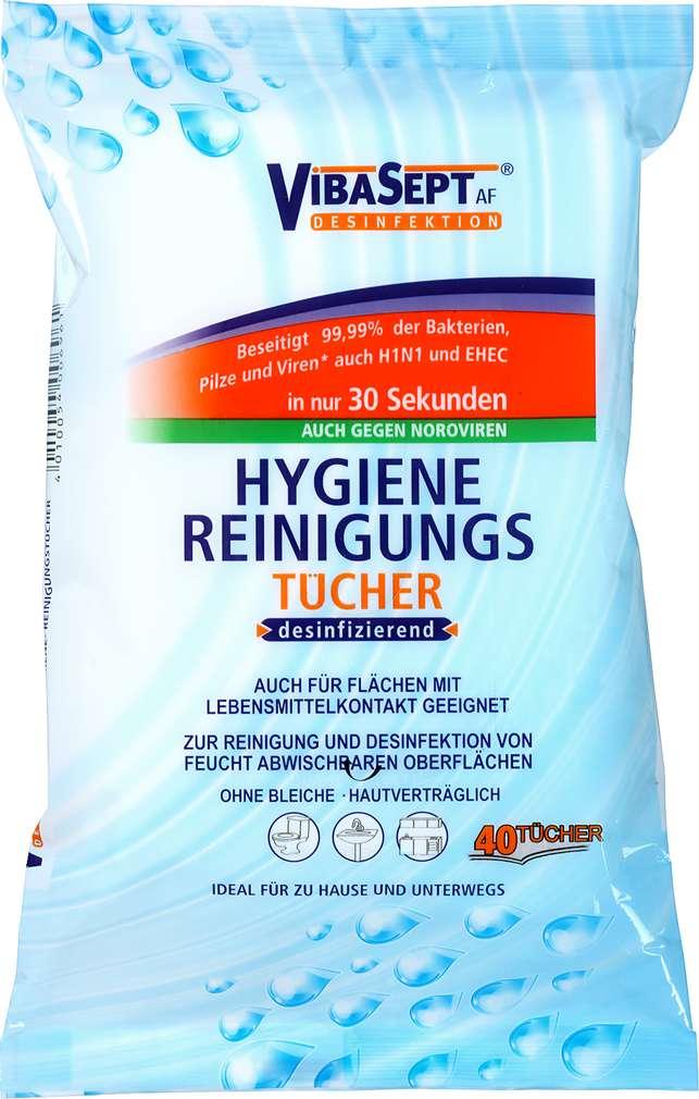 Abbildung des Sortimentsartikels VibaSept Hygiene Reinigungstücher desinfizierend 40 Stück