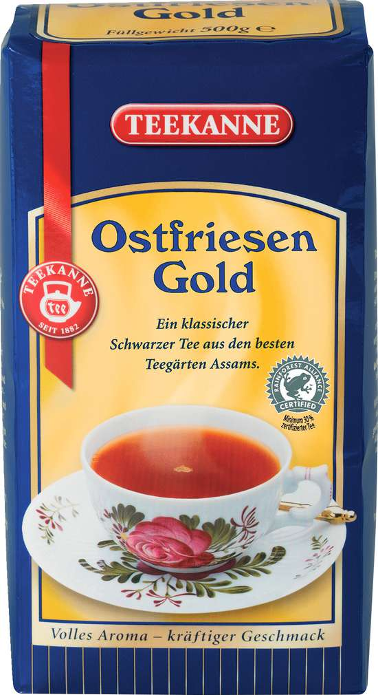 Abbildung des Sortimentsartikels Teekanne Ostfriesen Gold 500g