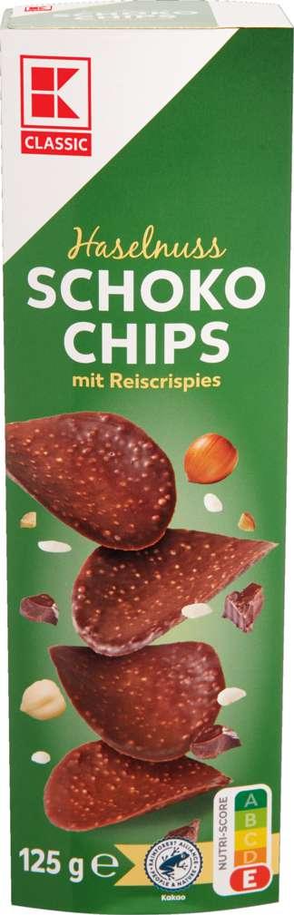 Abbildung des Sortimentsartikels K-Classic Schoko-Chips Nuss 125g