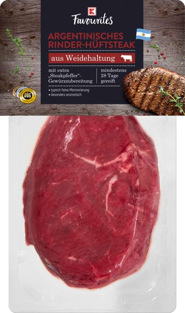 Abbildung des Sortimentsartikels K-Favourites Argentinisches Hüftsteak mit Steakpfeffer