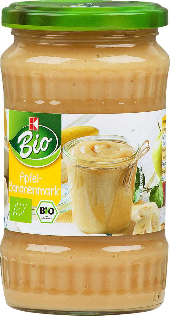 Abbildung des Sortimentsartikels K-Bio Apfel-Bananenmark 370ml