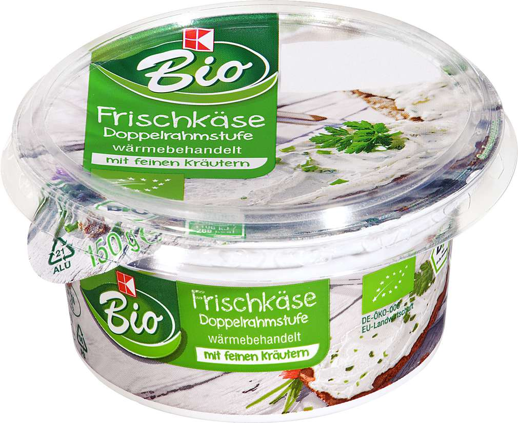 Abbildung des Sortimentsartikels K-Bio Frischkäse Kräuter 150g