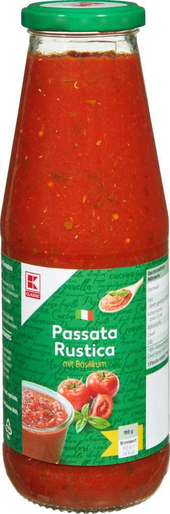 Abbildung des Sortimentsartikels K-Classic Passata Rustica Basilikum 720ml