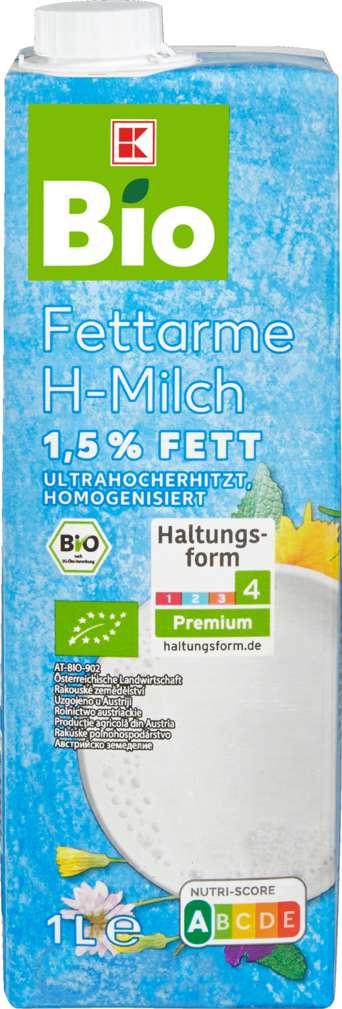 Abbildung des Sortimentsartikels K-Bio Fettarme H-Milch 1,5 % 1l
