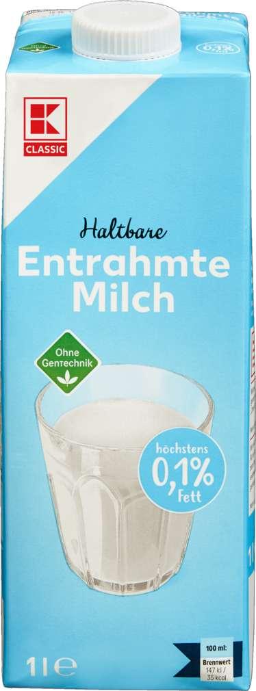 Abbildung des Sortimentsartikels K-Classic H-Milch 0,1% Fett 1,0l