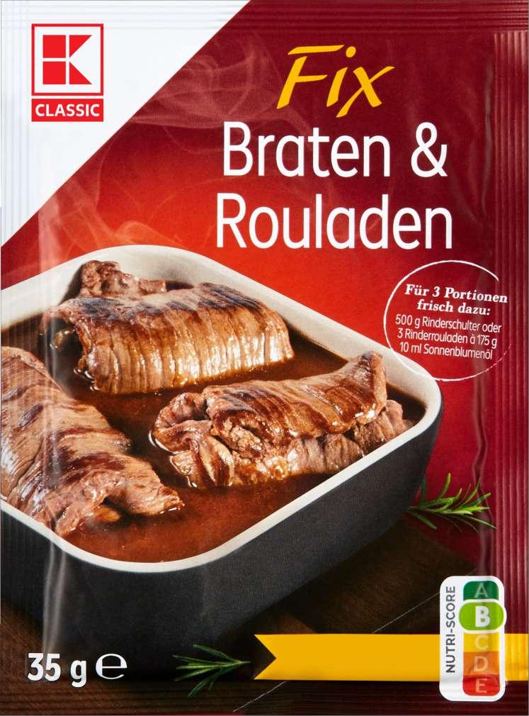 Abbildung des Sortimentsartikels K-Classic Fix für Braten & Rouladen 35g