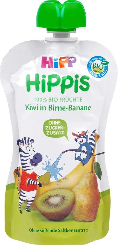 Abbildung des Sortimentsartikels Hippis Kiwi in Birne-Banane 100g