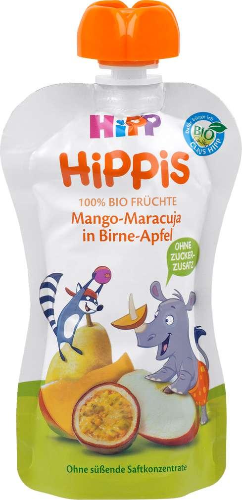 Abbildung des Sortimentsartikels Hippis Mango-Maracuja in Birne-Apfel 100g