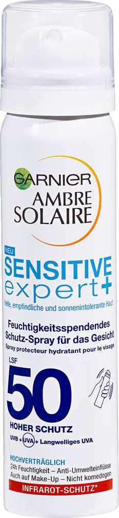 Abbildung des Sortimentsartikels Garnier Ambre Solaire Ambre Solaire Gesichtsspray Sensitiv Expert 75 ml