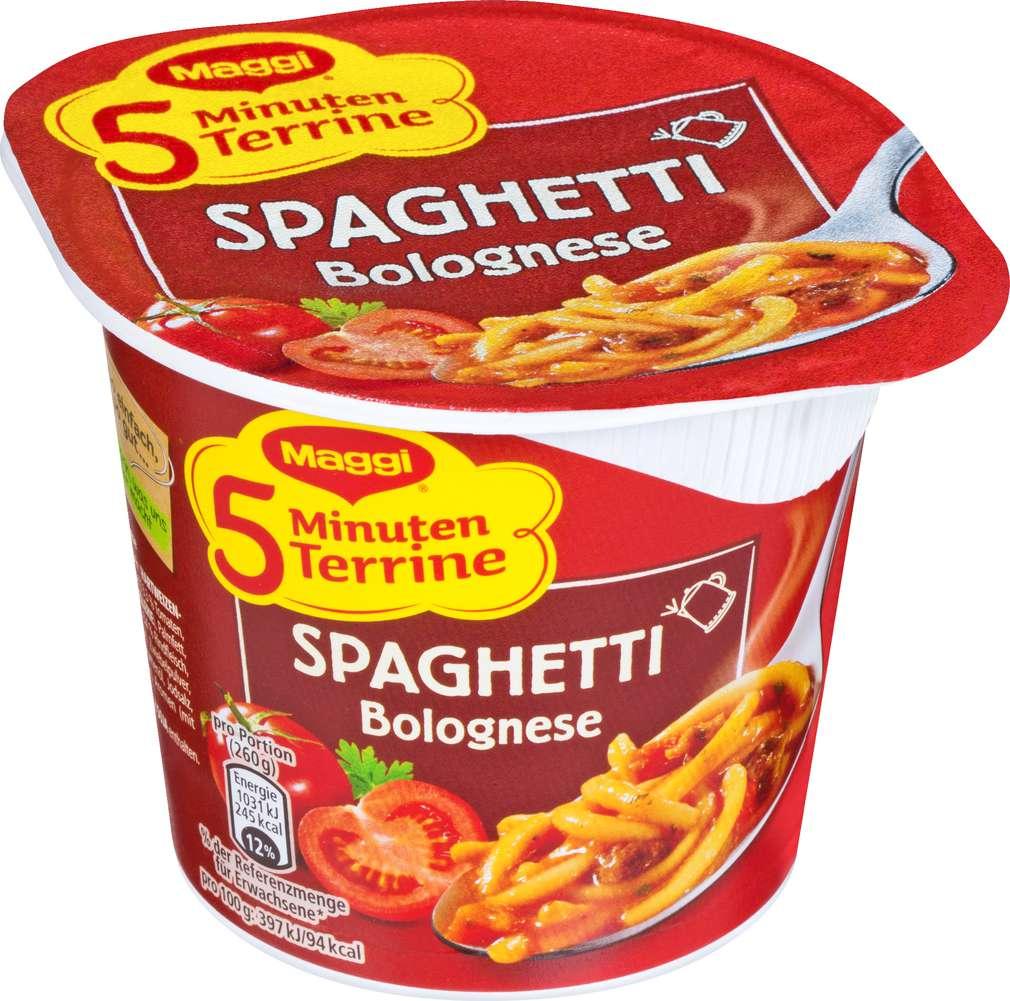 Abbildung des Sortimentsartikels Maggi 5 Minuten Terrine Spaghetti Bolognese 60g
