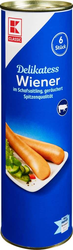 Abbildung des Sortimentsartikels K-Classic Wiener im Saitling 6 Stück 300g