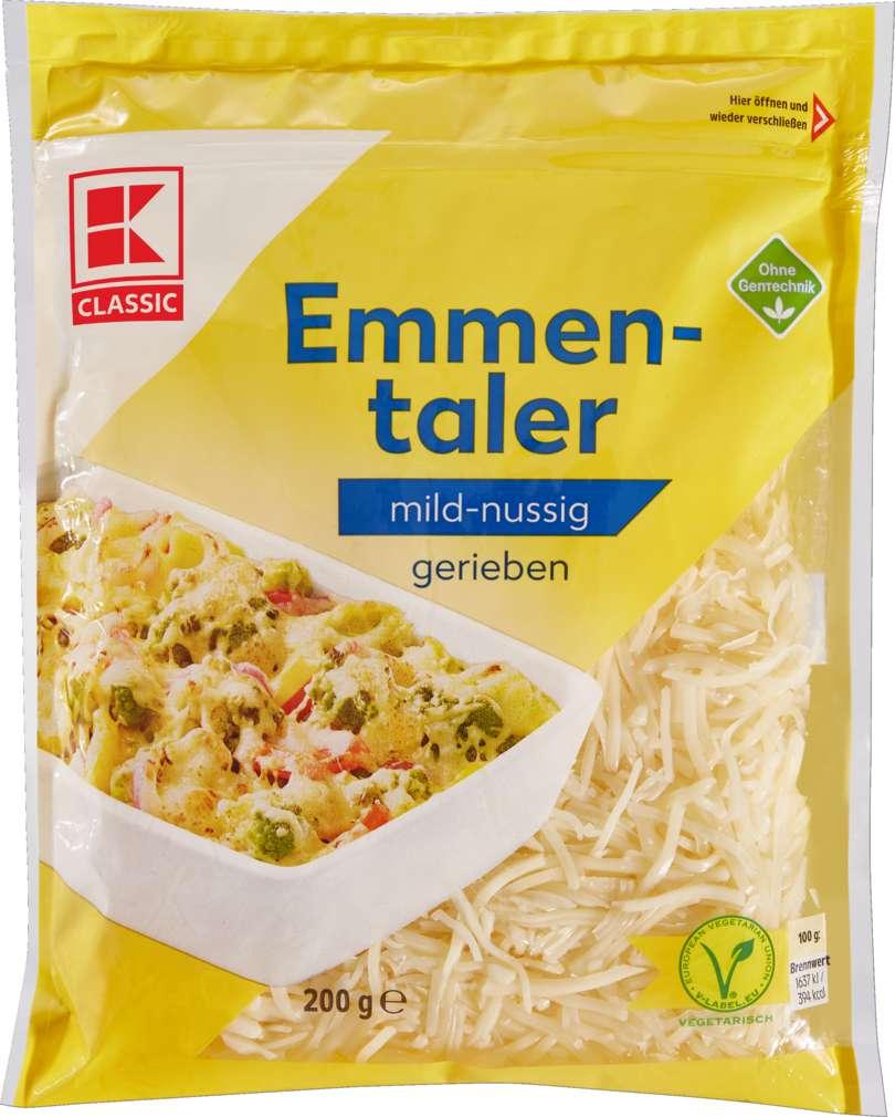 Abbildung des Sortimentsartikels K-Classic Emmentaler gerieben 45% Fett i.Tr. 200g