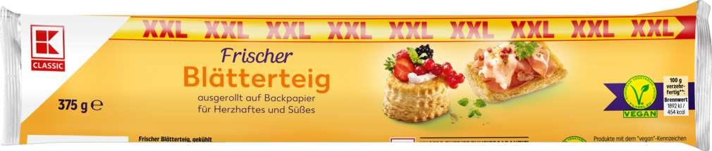 Abbildung des Sortimentsartikels K-Classic XXL Blätterteig 375g