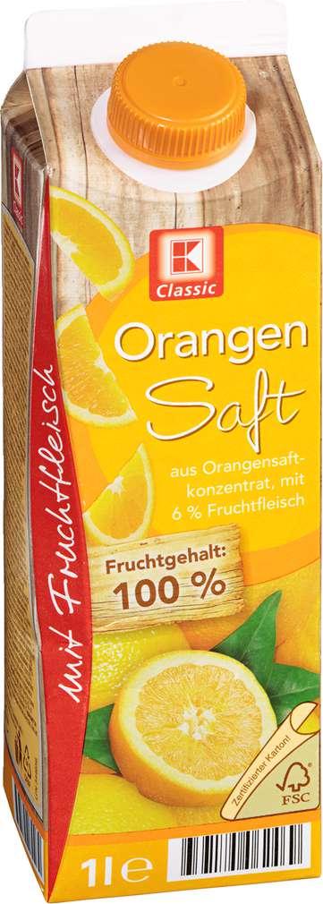 Abbildung des Sortimentsartikels K-Classic Orangensaft mit Fruchtfleisch 1l
