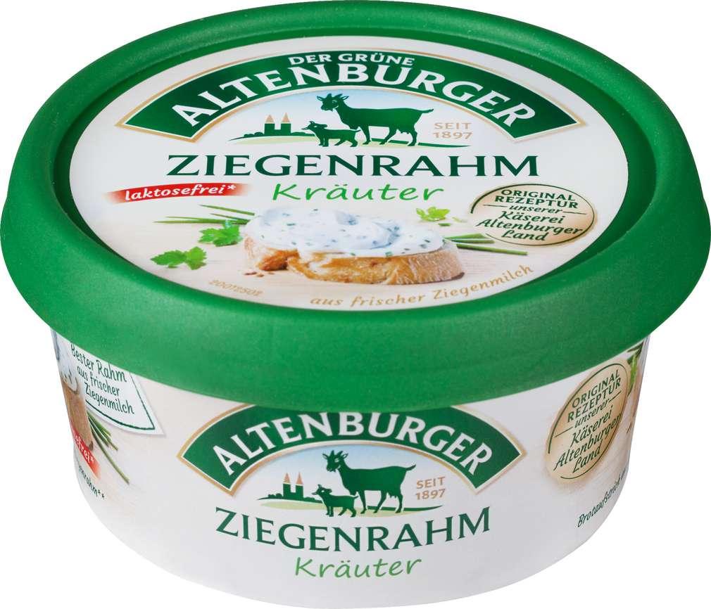 Abbildung des Sortimentsartikels Der Grüne Altenburger Ziegenrahm mit Kräutern laktosefrei 150g