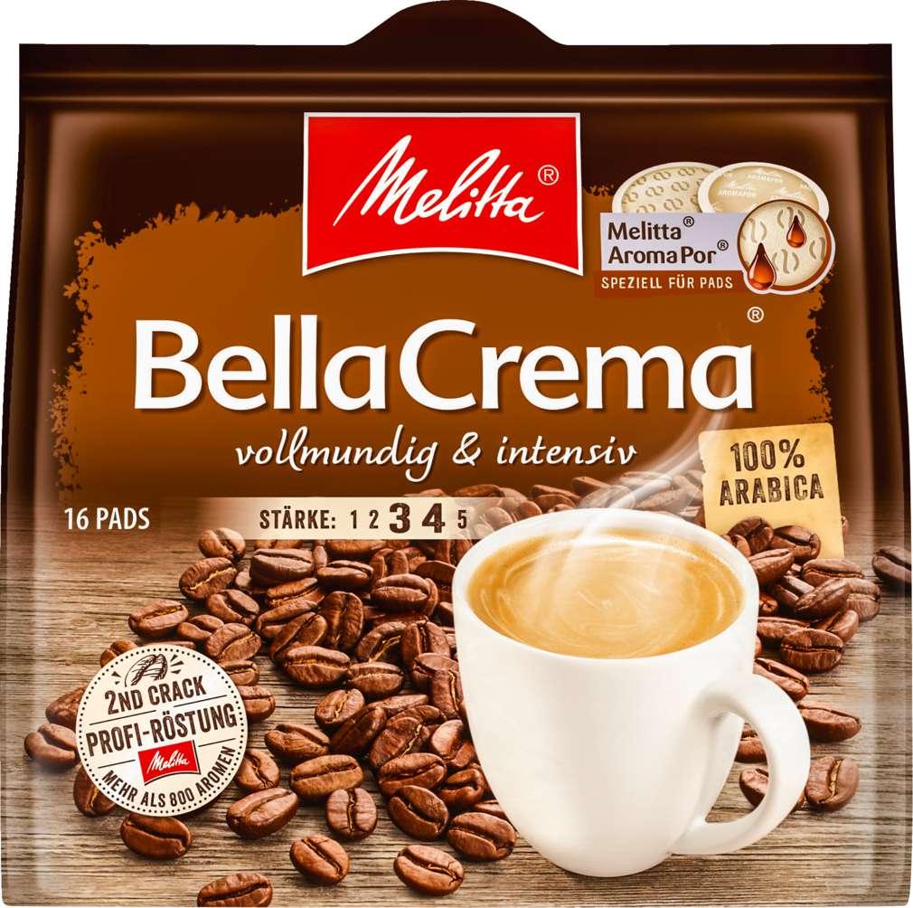Abbildung des Sortimentsartikels Melitta Bella Crema Pads 107g, 16 Stück