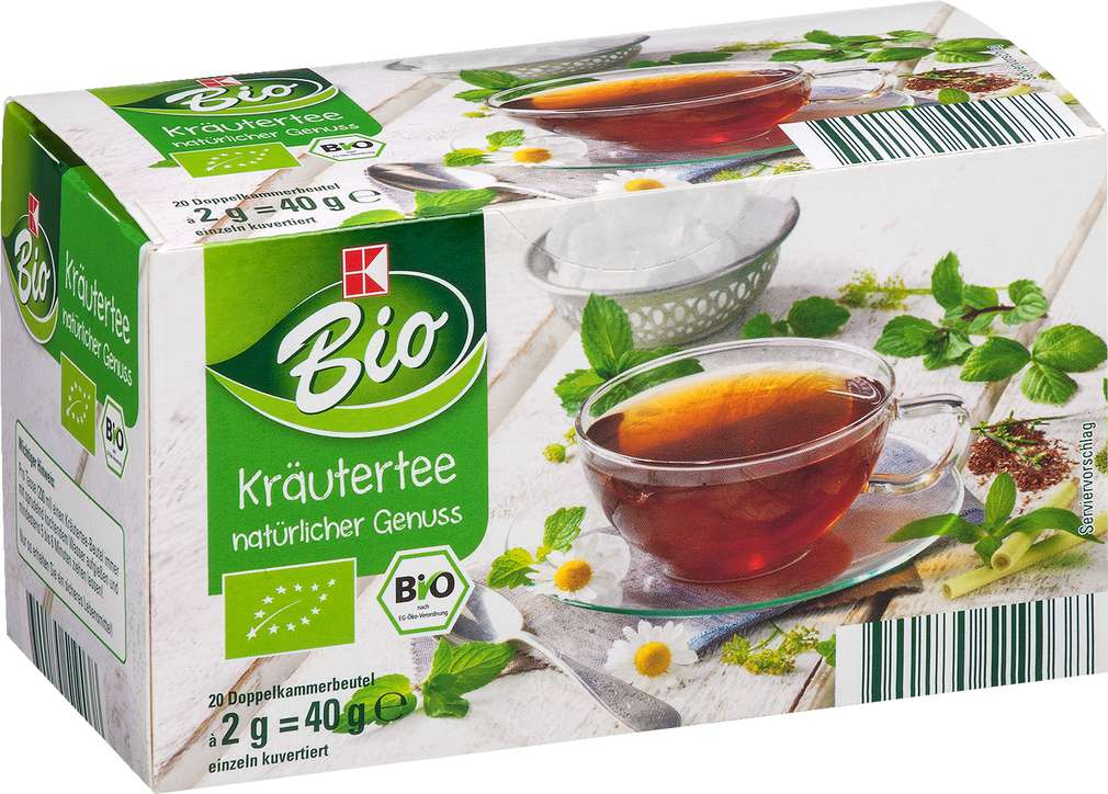 Abbildung des Sortimentsartikels K-Bio Kräuter Tee 20x2g