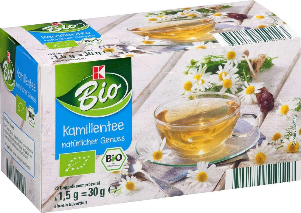 Abbildung des Sortimentsartikels K-Bio Kamillentee 30g, 20 Beutel