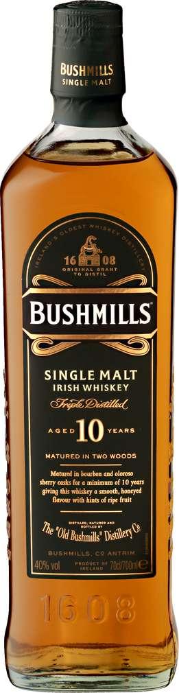Abbildung des Sortimentsartikels Bushmills Single Malt Irish Whiskey 0,7l