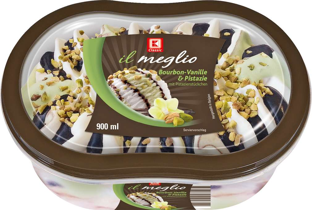 Abbildung des Sortimentsartikels K-Classic Il Meglio Bourbon Vanille & Pistazie Eis 900ml
