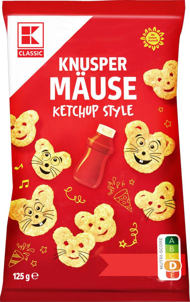 Abbildung des Sortimentsartikels K-Classic Knuspermäuse Ketchup 125g