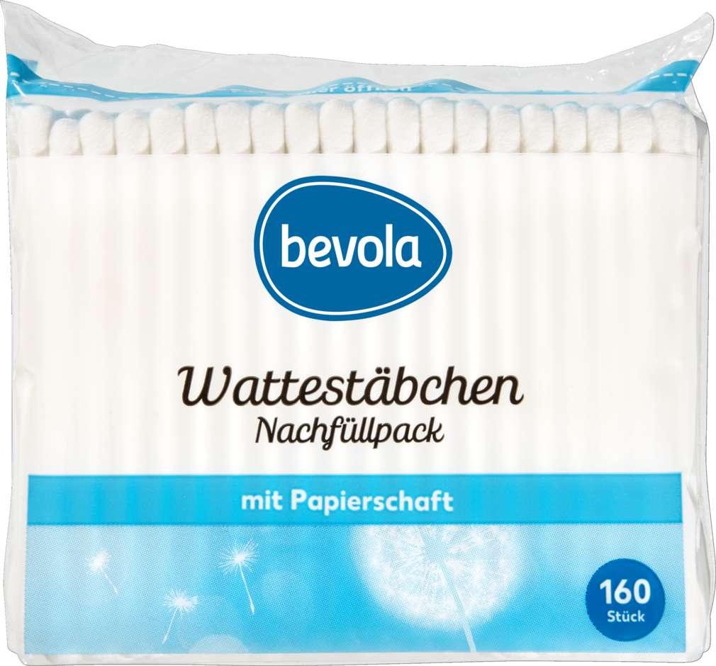 Abbildung des Sortimentsartikels Bevola Wattestäbchen Nachfüllpackung 160 Stück