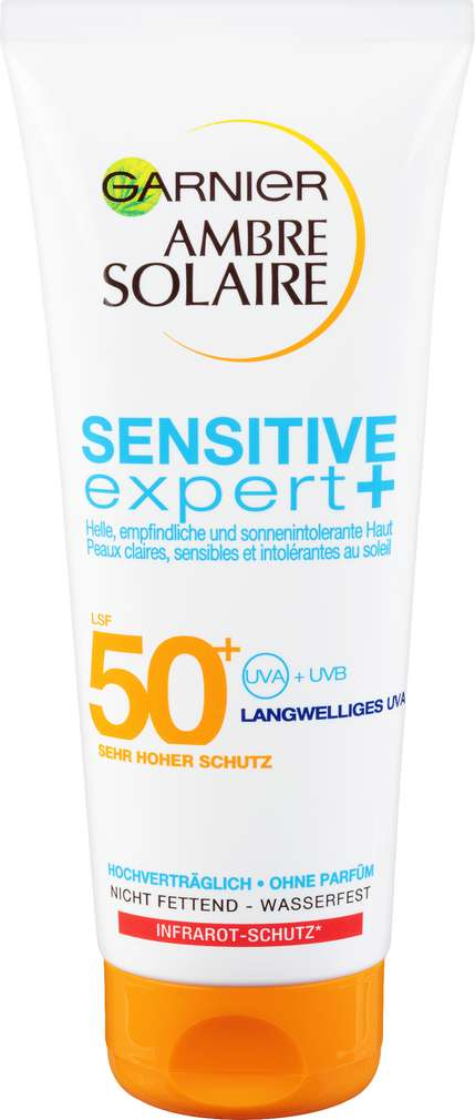 Abbildung des Sortimentsartikels Garnier Ambre Solaire Sonnenmilch LSF 50+