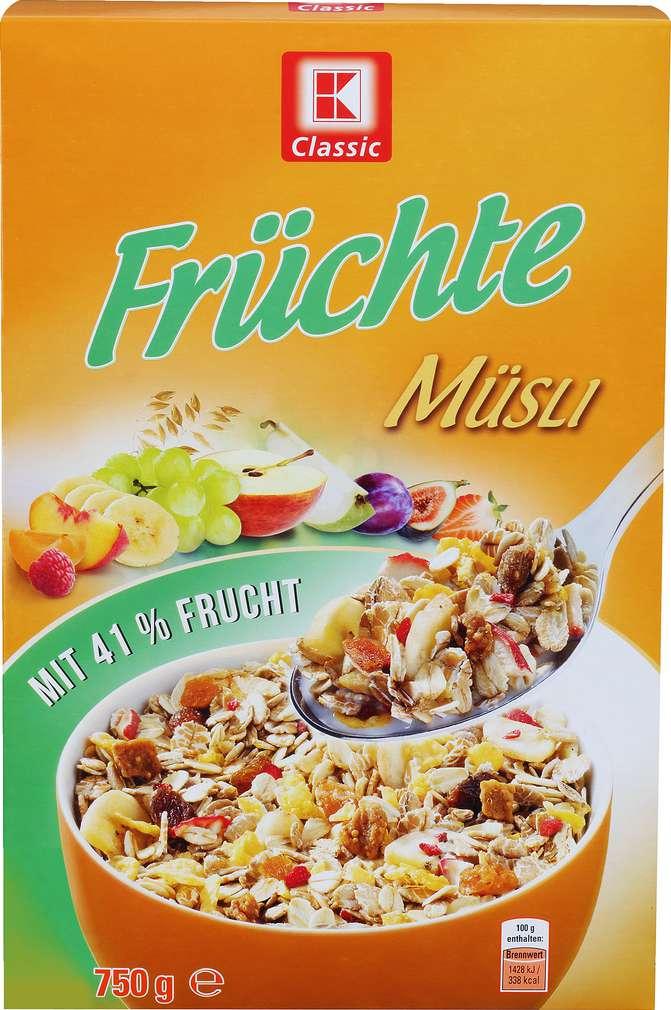 Abbildung des Sortimentsartikels K-Classic Früchte Müsli 750g