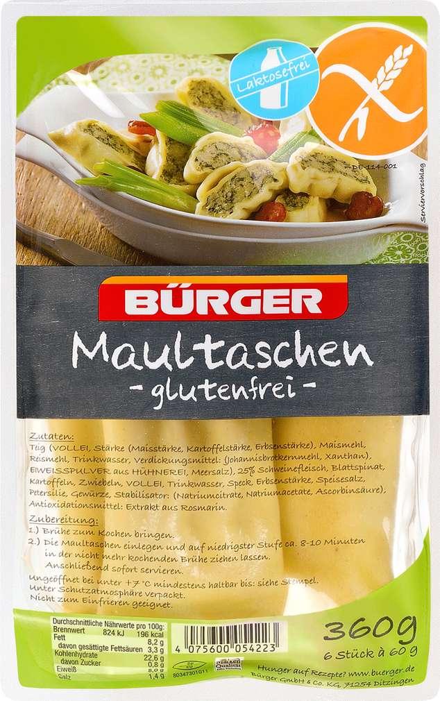 Abbildung des Sortimentsartikels Bürger Maultaschen glutenfrei 6x60g
