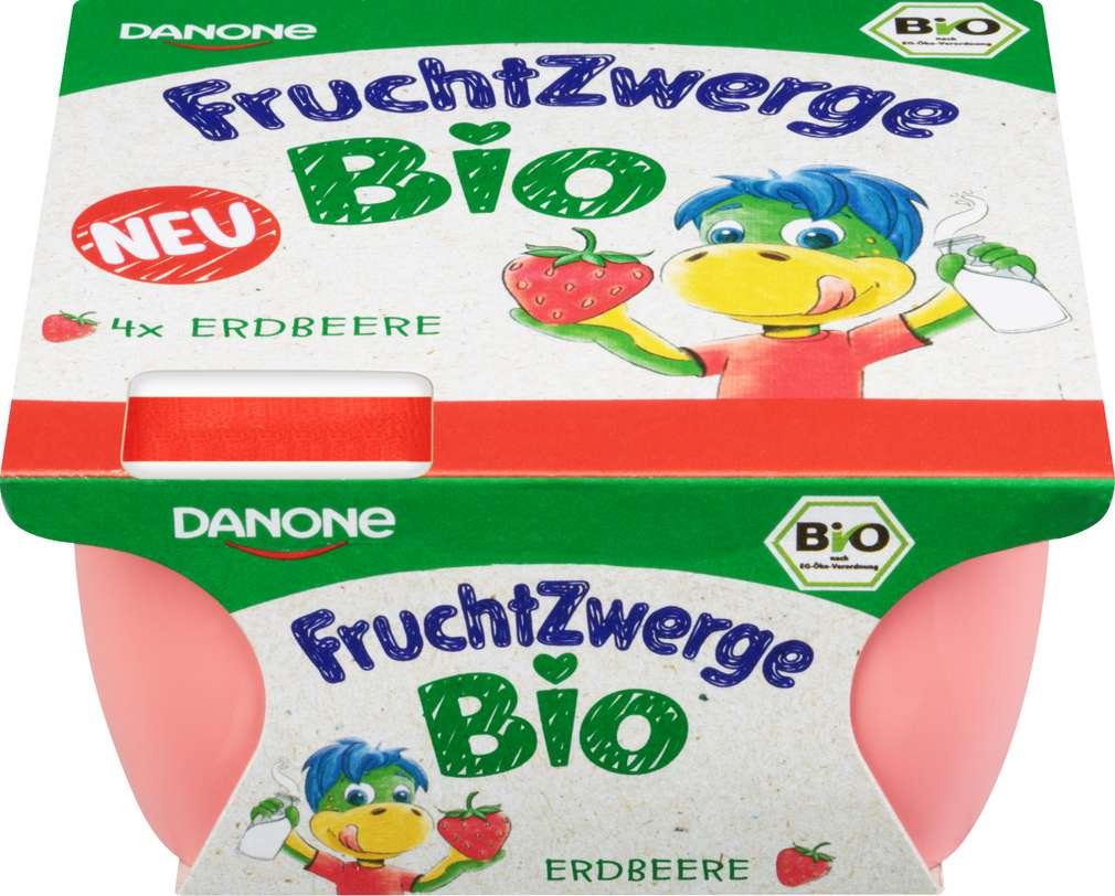 Abbildung des Sortimentsartikels Danone Fruchtzwerge Bio Erdbeere 4x50g
