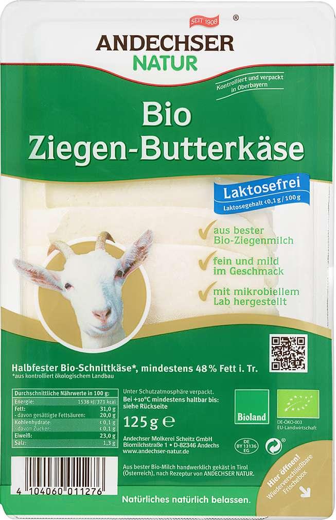 Abbildung des Sortimentsartikels Andechser Natur Bio Ziegen-Butterkäse 125g