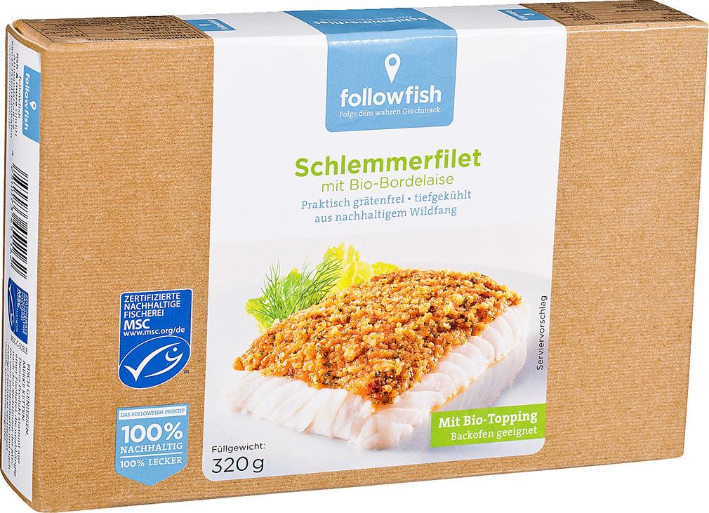 Abbildung des Sortimentsartikels followfish MSC Schlemmerfilet Bio-Bordelaise 320g