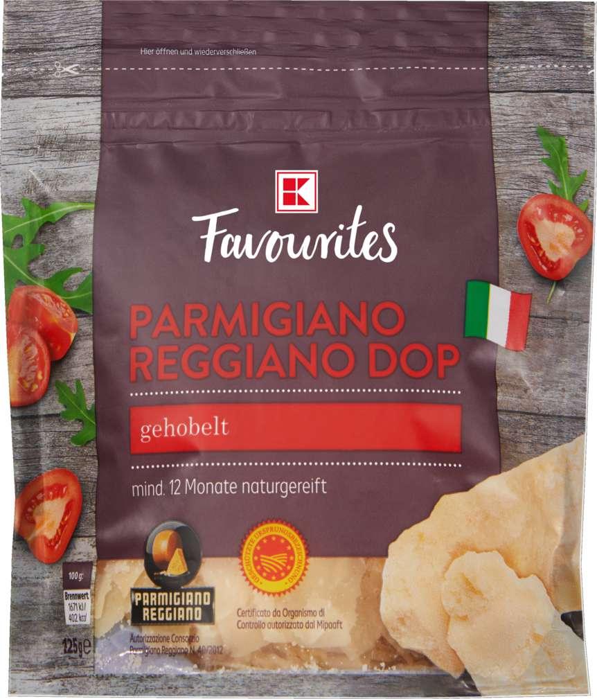 Abbildung des Sortimentsartikels K-Favourites Parmigiano Reggiano gehobelt 125g