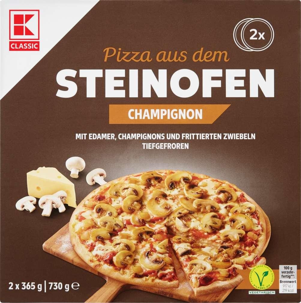 Abbildung des Sortimentsartikels K-Classic Steinofen-Pizza Champignon 2x365g