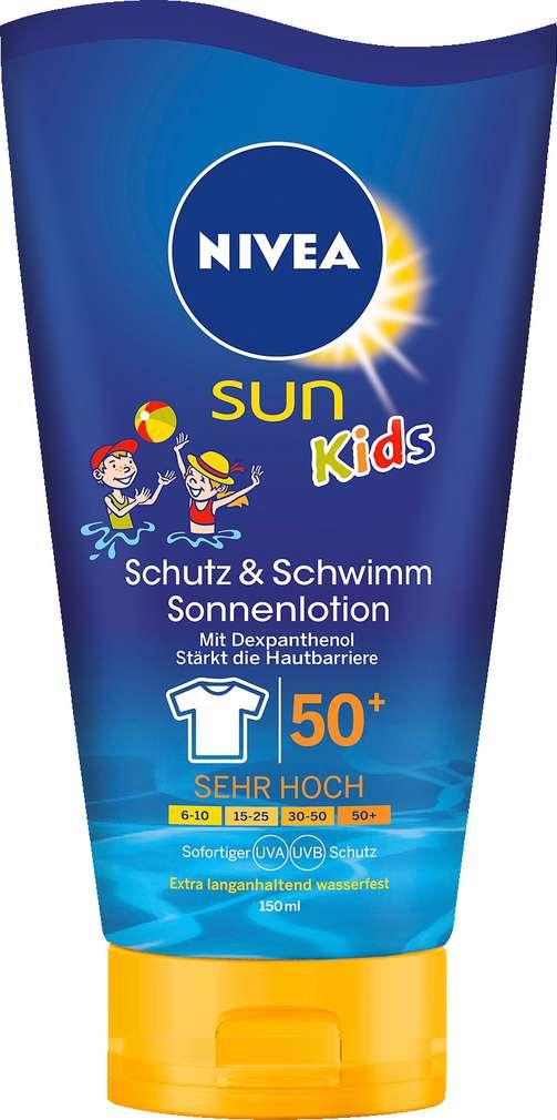 Abbildung des Sortimentsartikels Nivea Sun Swim & Play Schutz-Lotion LSF50 150ml