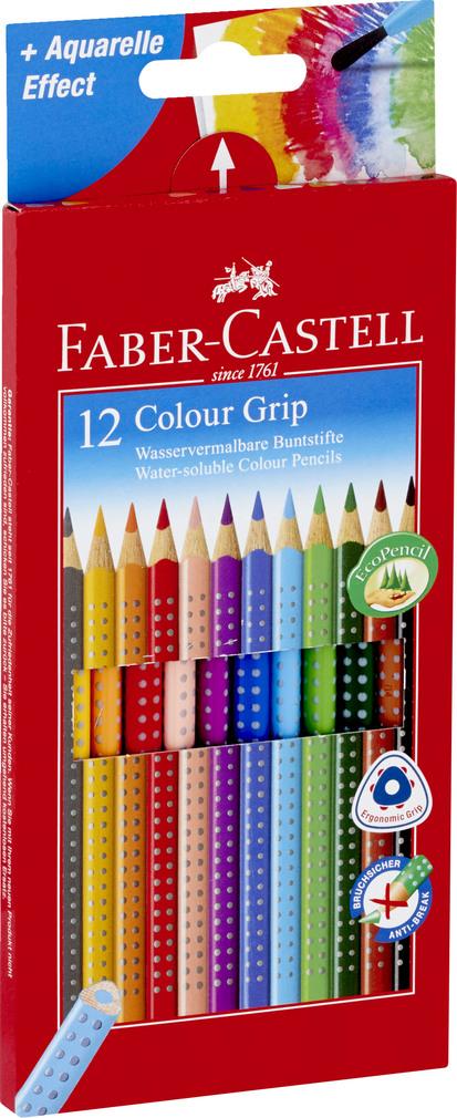 Abbildung des Sortimentsartikels Faber-Castell Wasservermalbare Buntstifte 12 Stück