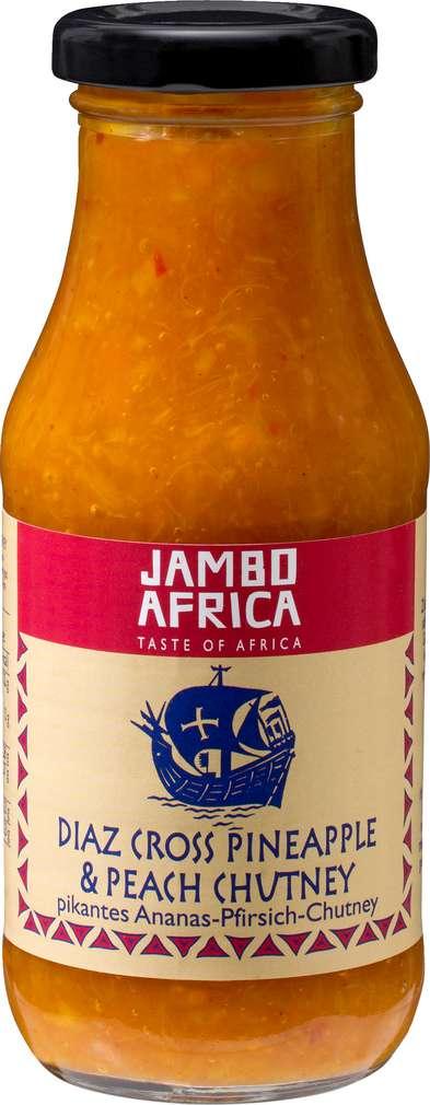 Abbildung des Sortimentsartikels Jambo Africa Ananas-Pfirsich-Chutney 270g