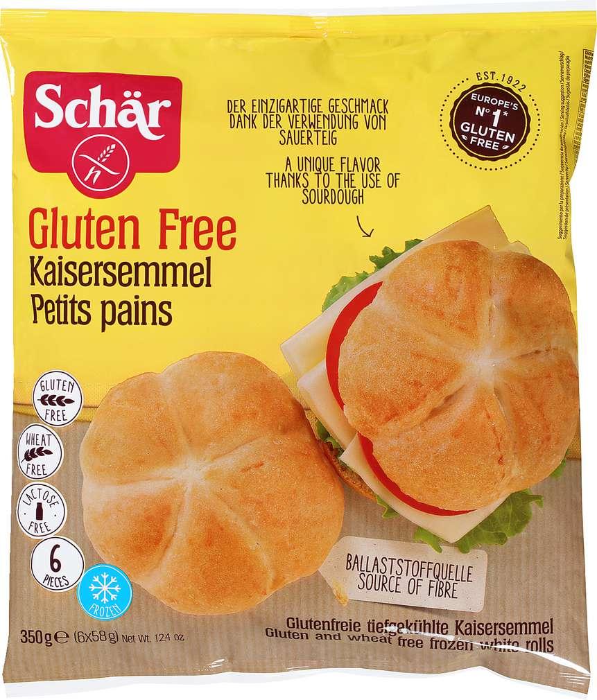 Abbildung des Sortimentsartikels Schär Kaisersemmel glutenfrei 350g, 6 Stück