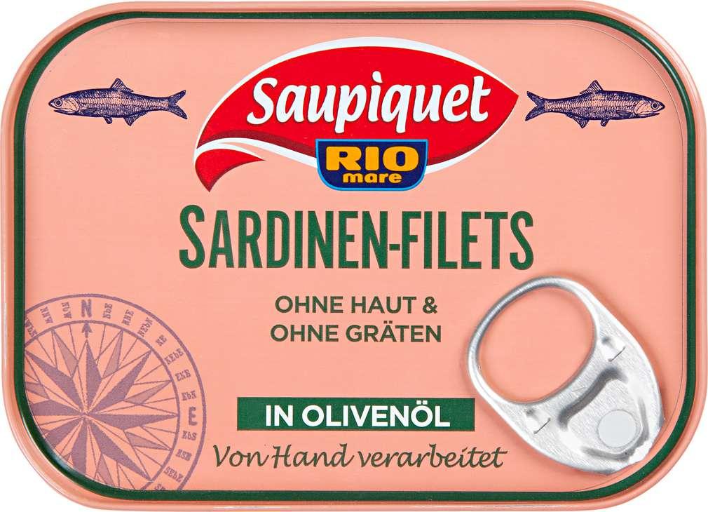 Abbildung des Sortimentsartikels Saupiquet Sardinen-Filtes in Olivenöl 105g