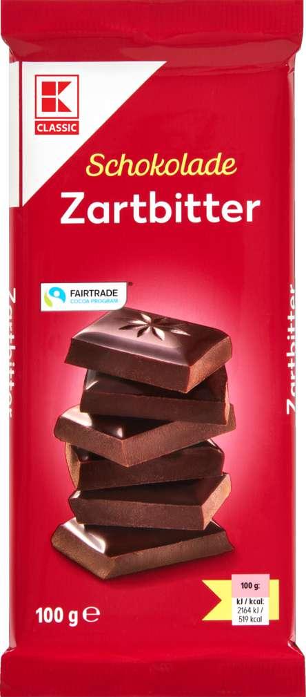 Abbildung des Sortimentsartikels K-Classic Zartbitter Schokolade 100g
