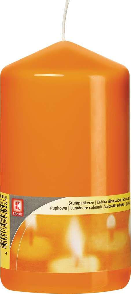 Abbildung des Sortimentsartikels K-Classic Edelstumpenkerze orange 15x8cm