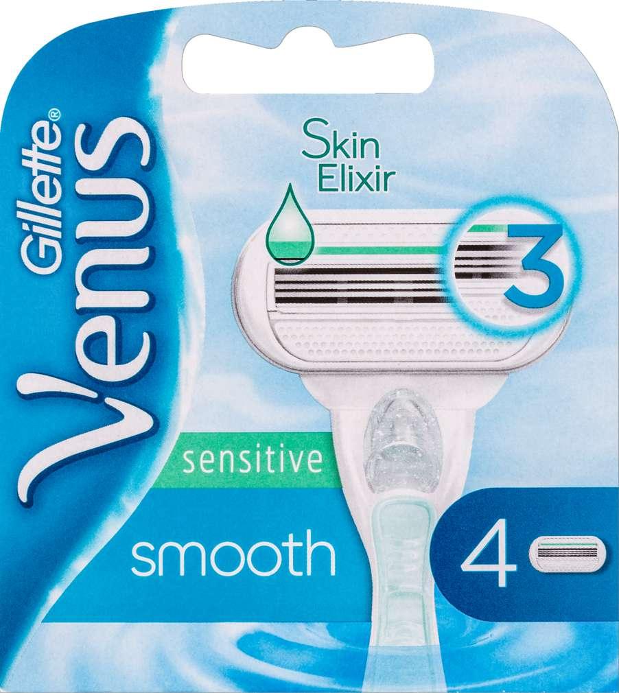 Abbildung des Sortimentsartikels Gillette Venus Smooth Rasierklingen Sensitive 4 Stück