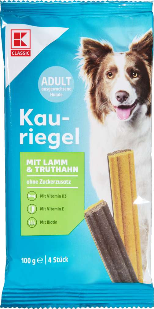 Abbildung des Sortimentsartikels K-Classic Hunde Kauriegel Lamm und Truthahn 100g