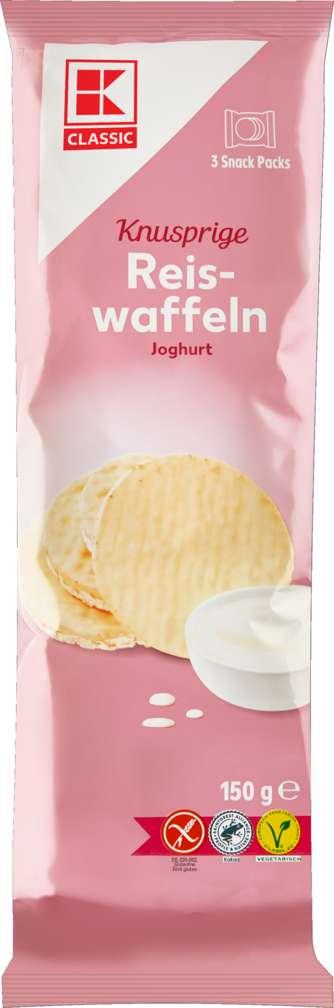 Abbildung des Sortimentsartikels K-Classic Reiswaffeln Joghurt 150g