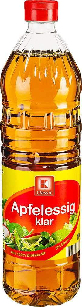 Abbildung des Sortimentsartikels K-Classic Apfelessig klar 1l