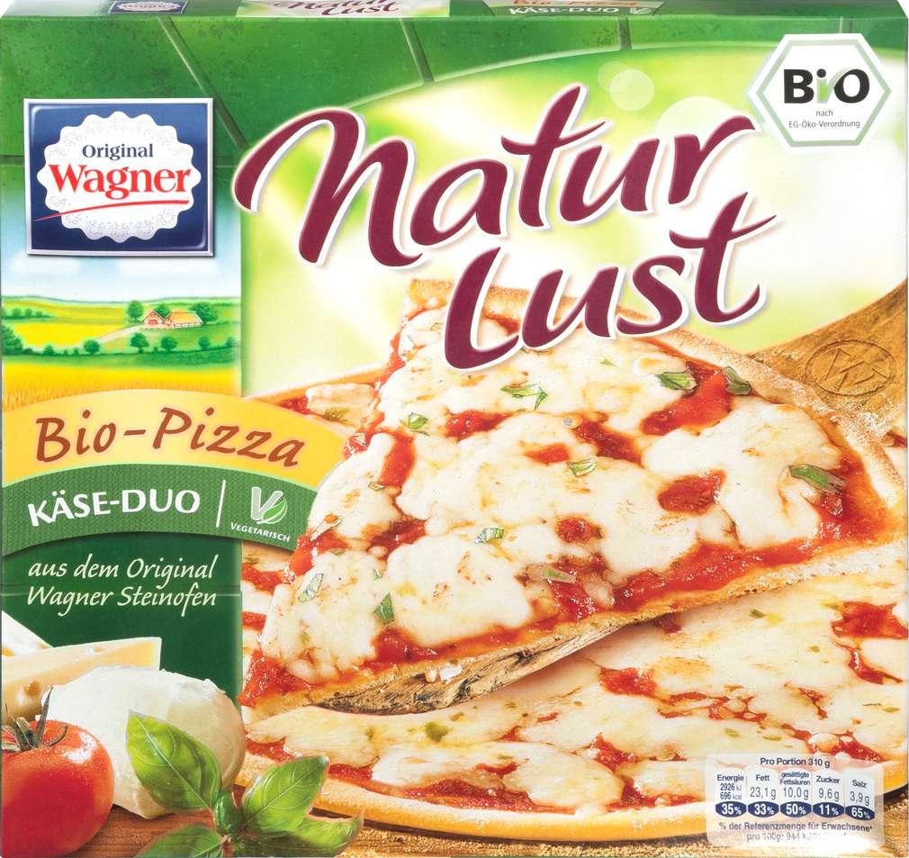 Abbildung des Sortimentsartikels Original Wagner Naturlust Bio-Pizza Käse-Duo 310g