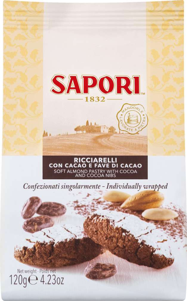Abbildung des Sortimentsartikels Sapori Ricciarelli Cacao 120g