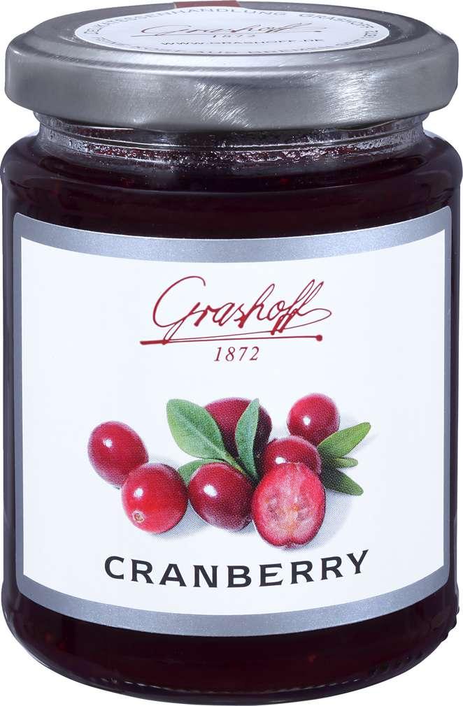 Abbildung des Sortimentsartikels Grashoff Cranberry Konfitüre Extra 250g