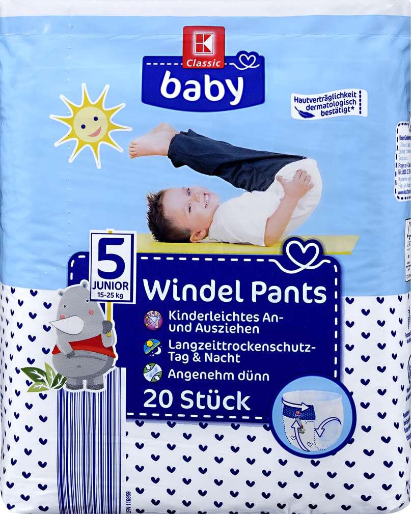Abbildung des Sortimentsartikels K-Classic Baby Windelpants Junior 20 Stück