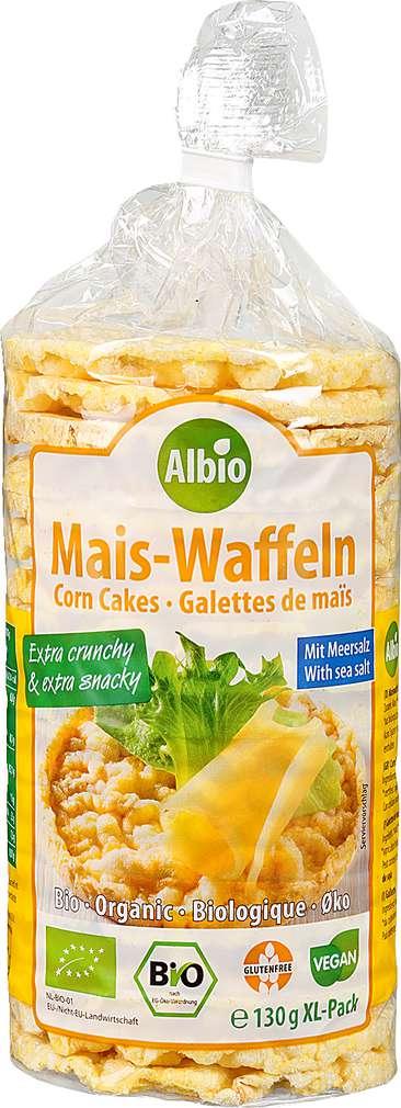 Abbildung des Sortimentsartikels Albio Mais-Waffeln mit Meersalz 130g